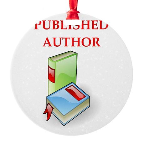 funny jokes authors writers bloggers Round Ornamen