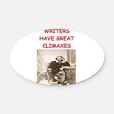 writer1.png Oval Car Magnet