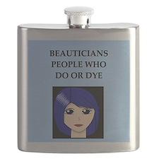 funny beautician joke gifts t-shirts Flask