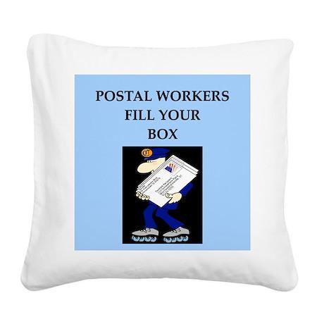 funny jokes mailman mailmen Square Canvas Pillow