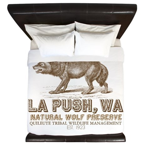 Quileute Wolf Preserve King Duvet