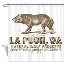 Quileute Wolf Preserve Shower Curtain