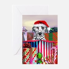 Dalmatian Spotty Claus Greeting Cards (Pk of 10)