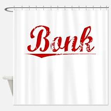 Bonk, Vintage Red Shower Curtain
