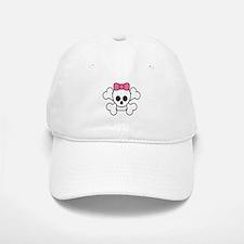 Girly Skull Baseball Baseball Cap