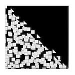 BLACK AND WHITE Tile Coaster
