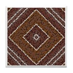 BROWN TRIANGLE Tile Coaster