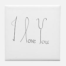 i love you 1 Tile Coaster