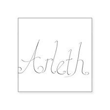 """Arleth name Square Sticker 3"""" x 3"""""""