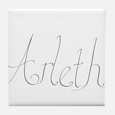 Arleth name Tile Coaster