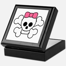 Girly Skull Keepsake Box