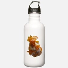 Wulfenite Crystals on matrix Water Bottle