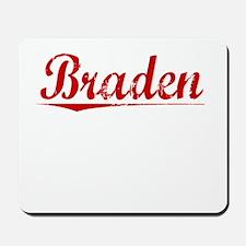 Braden, Vintage Red Mousepad