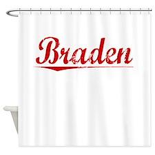 Braden, Vintage Red Shower Curtain