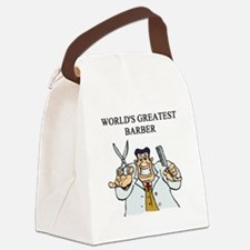 worlds greatest barber Canvas Lunch Bag
