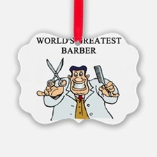 worlds greatest barber Ornament