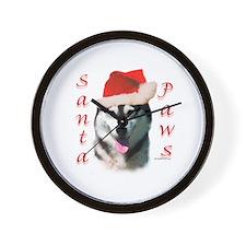 Malamute Paws Wall Clock