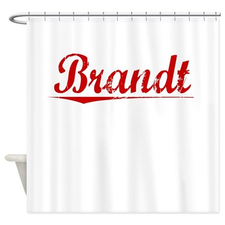 Brandt, Vintage Red Shower Curtain