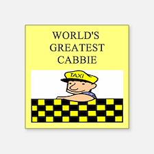 """funny jokes cabbie Square Sticker 3"""" x 3"""""""