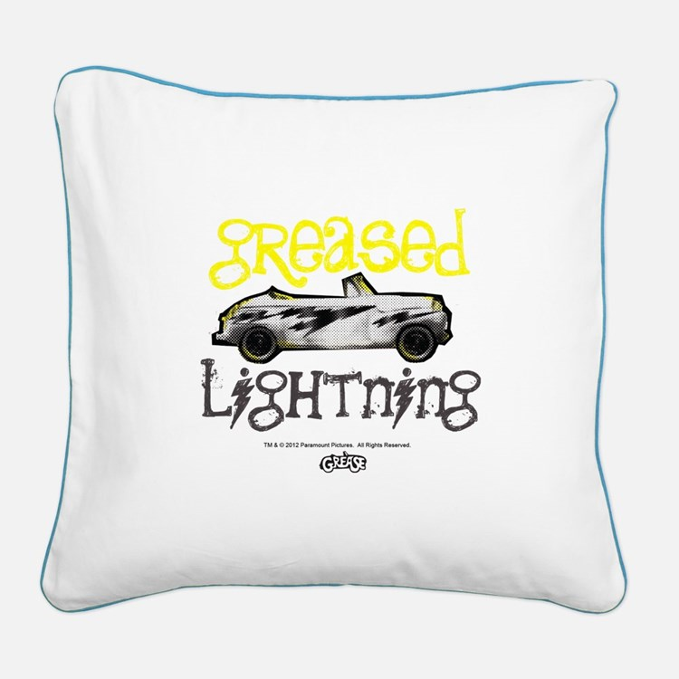 Greased Lightning Square Canvas Pillow