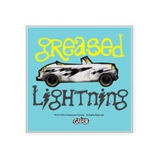 "Greased Lightning Square Sticker 3"" x 3"""