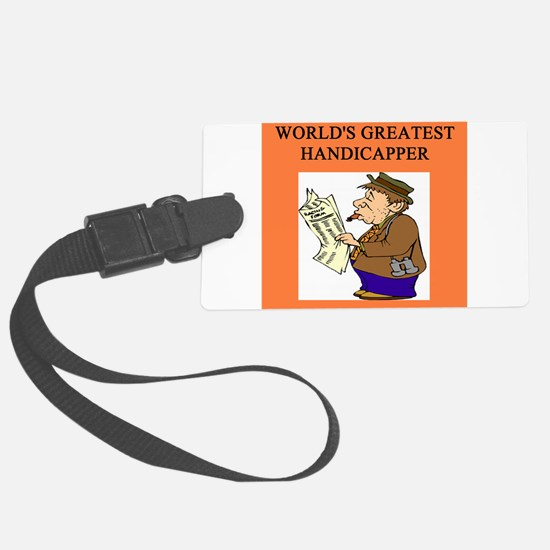 worlds greatest handicapper horse player Luggage Tag
