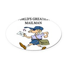 worlds greatest mailman Oval Car Magnet
