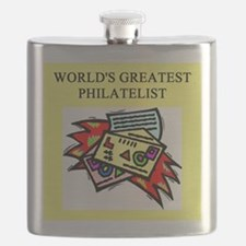 worlds greatest philatelist stamp collector Flask