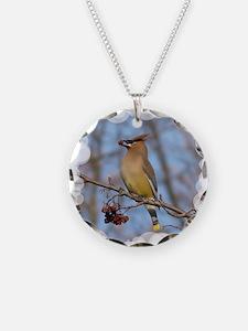 Cedar Waxwing Necklace