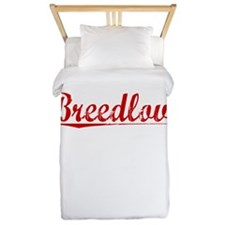 Breedlove, Vintage Red Twin Duvet