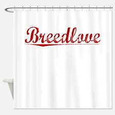 Breedlove, Vintage Red Shower Curtain