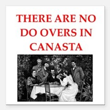 "CANASTA. gifts t-shirts Square Car Magnet 3"" x 3"""