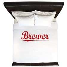 Brewer, Vintage Red King Duvet