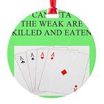 canasta queen Round Ornament