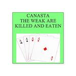 canasta queen Square Sticker 3
