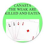 canasta queen Round Car Magnet