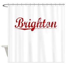 Brighton, Vintage Red Shower Curtain