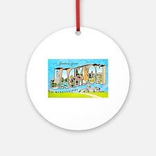 Jackson Mississippi Greetings Ornament (Round)