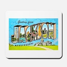 Jackson Mississippi Greetings Mousepad