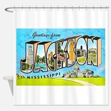 Jackson Mississippi Greetings Shower Curtain