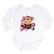 Monkey Cancer Hope Long Sleeve Infant Bodysuit
