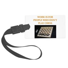funny games player joke chess Luggage Tag