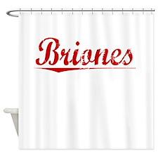 Briones, Vintage Red Shower Curtain