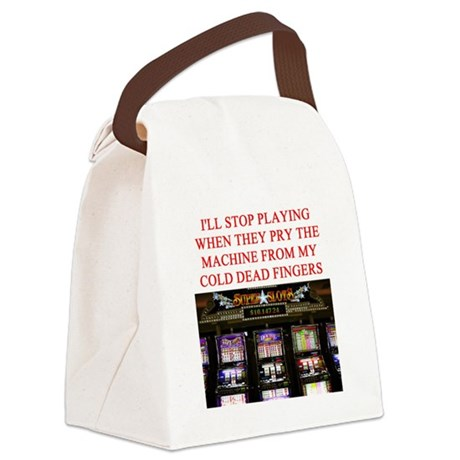 SLOTS player joke Canvas Lunch Bag
