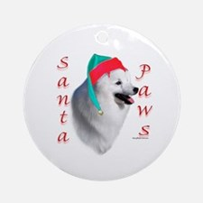 Eskimo Dog Paws Ornament (Round)