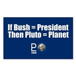 PLUTO = PLANET Rectangle Sticker