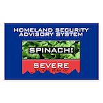SPINACH ALERT Rectangle Sticker