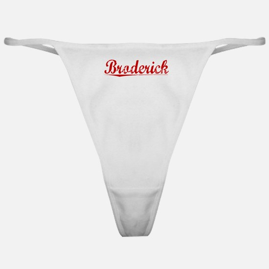 Broderick, Vintage Red Classic Thong