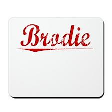 Brodie, Vintage Red Mousepad