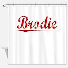 Brodie, Vintage Red Shower Curtain